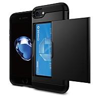 Недорогие Кейсы для iPhone 8 Plus-Кейс для Назначение Apple iPhone 7 / iPhone 6 Бумажник для карт Кейс на заднюю панель Однотонный Твердый ПК для iPhone X / iPhone 8 Pluss / iPhone 8