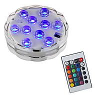 お買い得  -BRELONG® 1個 2W 水中ライト リモコン 防水 装飾用 スイミングプール RGB 5.5V