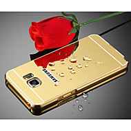 Недорогие Чехлы и кейсы для Galaxy S7-Кейс для Назначение SSamsung Galaxy S8 Plus S8 Зеркальная поверхность Кейс на заднюю панель Однотонный Твердый Металл для S8 Plus S8 S7