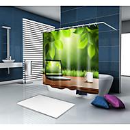 お買い得  浴室用小物-シャワーカーテン&フック コンテンポラリー カジュアル ポリエステル 現代風 ノベルティ柄 機械製 防水 浴室