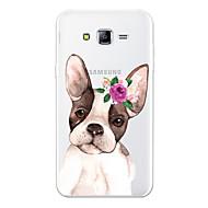 Недорогие Чехлы и кейсы для Galaxy J3(2017)-Кейс для Назначение SSamsung Galaxy J7 (2017) J7 (2016) С узором Кейс на заднюю панель С собакой Цветы Мультипликация Мягкий ТПУ для J7