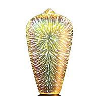 abordables Lámparas LED de Filamentos-1pc 5W 350lm E26 / E27 Bombillas de Filamento LED ST64 28 Cuentas LED LED Integrado Fuegos artificiales 3D Estrellado Decorativa