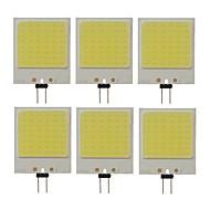 povoljno -SENCART 6kom 10 W LED svjetla s dvije iglice 300 lm G4 T 48 LED zrnca COB Ukrasno Hladno bijelo 12 V / RoHs