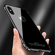 Недорогие Кейсы для iPhone 8 Plus-Кейс для Назначение Apple iPhone X iPhone 8 Защита от удара Зеркальная поверхность броня Кейс на заднюю панель броня Твердый Металл для