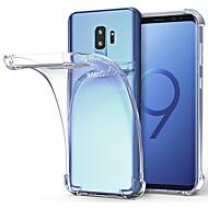 Недорогие Чехлы и кейсы для Galaxy S9 Plus-Кейс для Назначение SSamsung Galaxy S9 S9 Plus Защита от удара Прозрачный Кейс на заднюю панель Однотонный Мягкий ТПУ для S9 Plus S9 S8