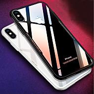 Недорогие Кейсы для iPhone 8-Кейс для Назначение Apple iPhone X iPhone 8 Защита от удара Зеркальная поверхность Кейс на заднюю панель Однотонный Твердый Силикон для