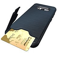 Недорогие Чехлы и кейсы для Galaxy S9-Кейс для Назначение SSamsung Galaxy S9 S9 Plus Бумажник для карт Защита от удара со стендом Кейс на заднюю панель броня Мягкий ТПУ для S9