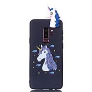 Недорогие Чехлы и кейсы для Galaxy S7-Кейс для Назначение SSamsung Galaxy S9 S9 Plus С узором Своими руками Кейс на заднюю панель единорогом Мягкий ТПУ для S9 Plus S9 S8 Plus