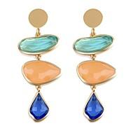 preiswerte -Damen Tropfen-Ohrringe - Erklärung / Elegant / Europäisch Rot / Blau Irregulär Ohrringe Für Party / Abschluss