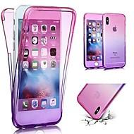 Недорогие Кейсы для iPhone 8 Plus-Кейс для Назначение Apple iPhone X / iPhone 8 Plus Ультратонкий Чехол Градиент цвета Мягкий ТПУ для iPhone X / iPhone 8 Pluss / iPhone 8