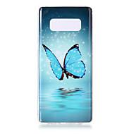 Недорогие Чехлы и кейсы для Galaxy Note 8-Кейс для Назначение SSamsung Galaxy Note 8 Сияние в темноте IMD С узором Кейс на заднюю панель Бабочка Сова Животное Мягкий ТПУ для Note 8