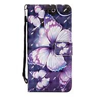 Недорогие Чехлы и кейсы для Galaxy S9 Plus-Кейс для Назначение SSamsung Galaxy S9 S9 Plus Бумажник для карт Кошелек со стендом Флип Магнитный Чехол Бабочка Твердый Кожа PU для S9