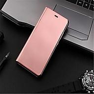 お買い得  携帯電話ケース-ケース 用途 Huawei P9 Lite P9 メッキ仕上げ ミラー フリップ オートスリープ/ウェイクアップ フルボディーケース 純色 ハード PC のために Huawei P9 Plus Huawei P9 Lite Huawei P9