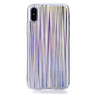 Недорогие Кейсы для iPhone 8-Кейс для Назначение Apple iPhone X iPhone 8 С узором Кейс на заднюю панель Полосы / волосы Мягкий ТПУ для iPhone X iPhone 8 Pluss iPhone