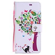 Недорогие Чехлы и кейсы для Galaxy S8-Кейс для Назначение SSamsung Galaxy S9 S9 Plus Бумажник для карт Кошелек со стендом Флип Магнитный Чехол дерево Твердый Кожа PU для S9
