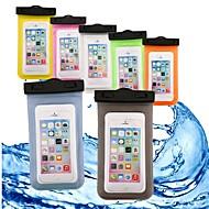 abordables Fundas para Móvil-Funda Para Apple iPhone 6 iPhone 7 Cartera Resistente al Agua Impermeable Transparente Bolsa Un Color Suave ABS + PC para iPhone X iPhone