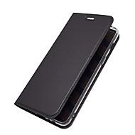 Недорогие Чехлы и кейсы для Galaxy A3(2017)-Кейс для Назначение SSamsung Galaxy A8 2018 А7 (2018) Бумажник для карт со стендом Флип Магнитный Чехол Однотонный Твердый Кожа PU для