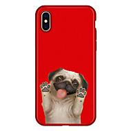 Недорогие Кейсы для iPhone 8-Кейс для Назначение Apple iPhone X / iPhone 8 Plus С узором Кейс на заднюю панель С собакой / Животное / Мультипликация Мягкий ТПУ для iPhone X / iPhone 8 Pluss / iPhone 8