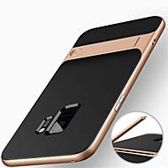 Недорогие Чехлы и кейсы для Galaxy S8 Plus-Кейс для Назначение SSamsung Galaxy S9 S9 Plus Защита от удара со стендом Кейс на заднюю панель броня Твердый ПК для S9 Plus S9 S8 Plus