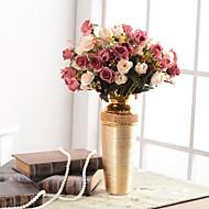 abordables Flores Artificiales-Flores Artificiales 1 Rama Tradicional / Clásico / Europeo Florero Flor de Mesa / Individual Jarrón