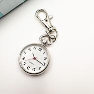 abordables Relojes Llavero-Mujer Reloj de Bolsillo Llavero Reloj Cuarzo Reloj Casual Aleación Banda Analógico damas Vintage Moda Minimalista Plata - Plata Un año Vida de la Batería / Tianqiu 377