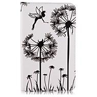 voordelige Samsung Tab-serie hoesjes / covers-hoesje Voor Samsung Galaxy Tab E 8.0 Kaarthouder Portemonnee met standaard Patroon Auto Slapen / Ontwaken Volledig hoesje Paardebloem Hard