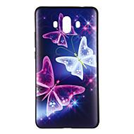 お買い得  携帯電話ケース-ケース 用途 Huawei Mate 10 パターン バックカバー バタフライ ソフト TPU のために Mate 10