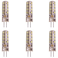 お買い得  -WeiXuan 6本 2W 160lm G4 LED2本ピン電球 T 32 LEDビーズ SMD 3014 温白色 クールホワイト 220-240V