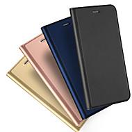 Недорогие Кейсы для iPhone 8 Plus-Кейс для Назначение Apple iPhone X / iPhone 8 / iPhone XS Бумажник для карт / Флип / Магнитный Чехол Однотонный Твердый Кожа PU для iPhone XS / iPhone XR / iPhone XS Max