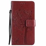 preiswerte Handyhüllen-Hülle Für Sony Xperia Z3 Mini Xperia Z3 Geldbeutel mit Halterung Flipbare Hülle Ganzkörper-Gehäuse Blume Baum Hart PU-Leder für Sony