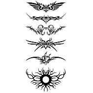 billiga Temporära tatueringar-1 pcs Tatueringsklistermärken tillfälliga tatueringar Totemserier Vattentät Body art Kropp / arm / skuldra