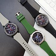 Недорогие Аксессуары для смарт-часов-Ремешок для часов для Gear S3 Frontier Samsung Galaxy Спортивный ремешок силиконовый Повязка на запястье