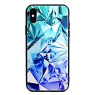 Недорогие Кейсы для iPhone 8 Plus-Кейс для Назначение Apple iPhone X iPhone 8 Plus С узором Кейс на заднюю панель Геометрический рисунок Твердый Закаленное стекло для