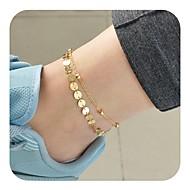 Femme Bracelet de cheville bijoux de pieds dames Rétro Vintage Bracelet de cheville Bijoux Dorée / Argent Pour Quotidien Vacances