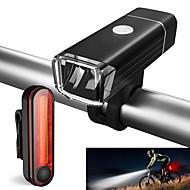お買い得  フラッシュライト/ランタン/ライト-自転車用ヘッドライト / 後部バイク光 / 充電式自転車ライトセット LED 自転車用ライト サイクリング 防水, パータブル リチウムイオン 500 lm サイクリング