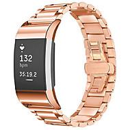 Недорогие Аксессуары для смарт-часов-Ремешок для часов для Fitbit Charge 2 Fitbit Бабочка Пряжка Нержавеющая сталь Повязка на запястье