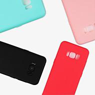 Недорогие Чехлы и кейсы для Galaxy S8-Кейс для Назначение SSamsung Galaxy S9 S9 Plus Матовое Кейс на заднюю панель Сплошной цвет Мягкий ТПУ для S9 Plus S9 S8 Plus S8 S7 edge