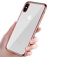 Capinha Para Apple iPhone X / iPhone 8 Galvanizado / Ultra-Fina / corpo transparente Capa traseira Sólido Macia TPU para iPhone X / iPhone 8 Plus / iPhone 8