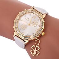 Damen Quartz Modeuhr Chinesisch Armbanduhren für den Alltag PU Band Charme Modisch Schwarz Weiß Blau Gold Lila Rose