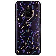 Недорогие Чехлы и кейсы для Galaxy S9-Кейс для Назначение SSamsung Galaxy S9 S9 Plus С узором Кейс на заднюю панель Плитка Геометрический рисунок Мягкий ТПУ для S9 Plus S9