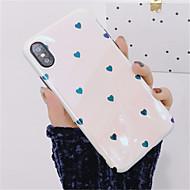 Недорогие Кейсы для iPhone 8 Plus-Кейс для Назначение Apple iPhone X iPhone 7 Plus Зеркальная поверхность С узором Кейс на заднюю панель С сердцем Мягкий ТПУ для iPhone X