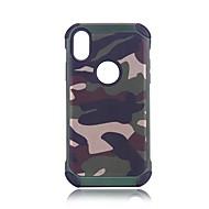 Недорогие Кейсы для iPhone 8 Plus-Кейс для Назначение Apple iPhone X iPhone 8 Защита от удара броня Кейс на заднюю панель Камуфляж Твердый ПК для iPhone X iPhone 8 Pluss