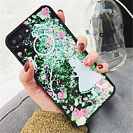 Недорогие Кейсы для iPhone 8 Plus-Кейс для Назначение Apple iPhone X iPhone 7 Plus Движущаяся жидкость С узором Кейс на заднюю панель Сияние и блеск Твердый ПК для iPhone