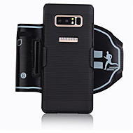 Недорогие Чехлы и кейсы для Galaxy Note-Кейс для Назначение SSamsung Galaxy Note 9 Note 8 Спортивныеповязки Бумажник для карт Защита от удара С ремешком на руку Однотонный