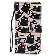 Недорогие Чехлы и кейсы для Galaxy S-Кейс для Назначение SSamsung Galaxy S9 S9 Plus Бумажник для карт Кошелек со стендом Флип Магнитный Чехол Кот Твердый Кожа PU для S9 Plus