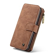 Недорогие Чехлы и кейсы для Galaxy S-Кейс для Назначение SSamsung Galaxy S9 S9 Plus Бумажник для карт Кошелек Флип Чехол Однотонный Твердый Кожа PU для S9 Plus S9 S8 Plus S8