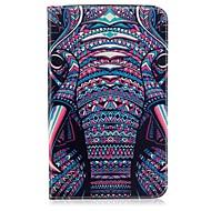 Недорогие Чехлы и кейсы для Samsung Tab-Кейс для Назначение SSamsung Galaxy Tab E 8.0 Бумажник для карт Кошелек со стендом С узором Авто Режим сна / Пробуждение Чехол Слон
