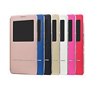 Недорогие Чехлы и кейсы для Galaxy Note 8-Кейс для Назначение SSamsung Galaxy Note 8 со стендом с окошком Флип Чехол Однотонный Твердый Кожа PU для Note 8