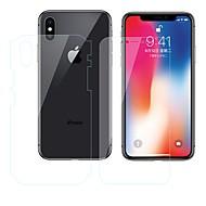 Недорогие Защитные плёнки для экрана iPhone-Защитная плёнка для экрана Apple для iPhone X TPG Hydrogel 2 штs Защитная пленка для экрана и задней панели Против отпечатков пальцев