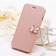 Недорогие Чехлы и кейсы для Galaxy S8 Plus-Кейс для Назначение SSamsung Galaxy S8 Plus S8 Бумажник для карт Чехол Сплошной цвет Бабочка Твердый Кожа PU для S8 Plus S8 S7 edge S7 S6